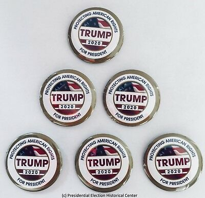 President Donald Trump 2020 Campaign Buttons TRUMP-702-SET (Set of 6)