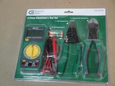 Commercial Electric 3-piece Electricians Tool Set Model 1002 208 395   1a