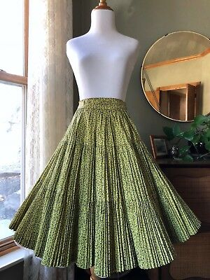 50s Skirt Martha of Taos Full Circle Broomstick Calico Print Fit Flare Vintage
