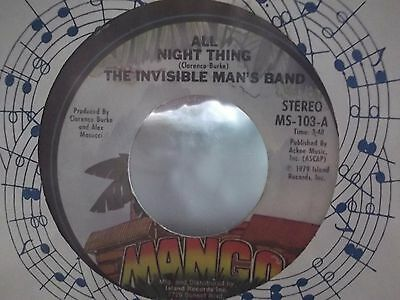 The Invisible Man's Band All Night Thing X 2 On Mango Records