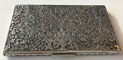 Vintage Fine Silver Cigarette Case, Italy early 20th Century