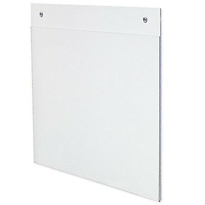 Source One 6-pack Acrylic 8.5-Inch x 11-Inch Wall Mount Sign Holders 6 Pack NEW
