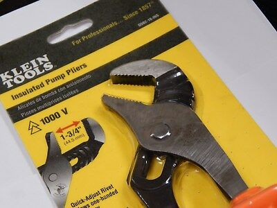 Klein Tools Insulated Pump Pliers! New In Pkg! D502-10-Ins