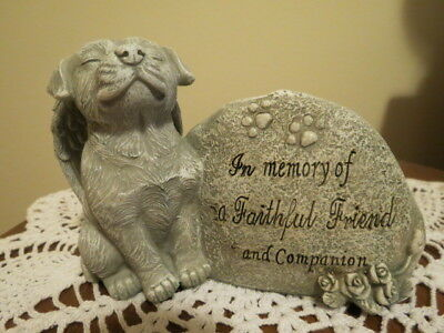 "Memorial Dog Statue ""In memory of a Faithful Friend companion"""