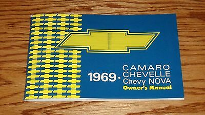 1969 Chevrolet Camaro Chevelle Chevy Nova Owners Operators Manual 69