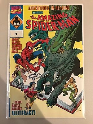 Adventures in Reading Starring the Amazing Spider-Man #1 (1990, Marvel) VF