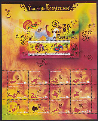 Christmas Island 2005 Year of the Rooster Zodiac MS MNH