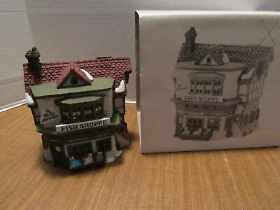 Dept 56 Dickens Village 1988 The Mermaid Fish Shoppe #5926-9 Retired 1993