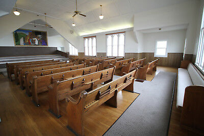 Antique Oak Church Pews