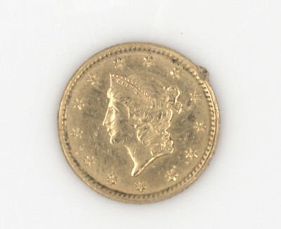 1852 Solid Gold One Dollar Gold Piece United States Coin Nr 307-5