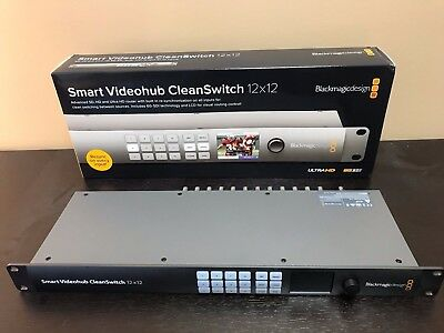 Blackmagic Smart Videohub CleanSwitch 12 x 12 6G-SDI - Slightly Used Demo Unit