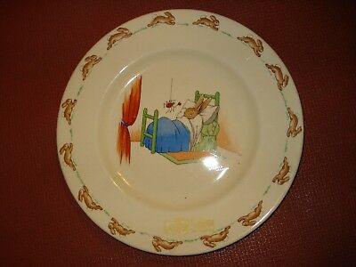 "Vintage.....Royal Doulton Barbara Vernon  Bunnykins ""Scary Spider"" Plate 71/2 in"