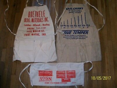 lot of 3 nail aprons