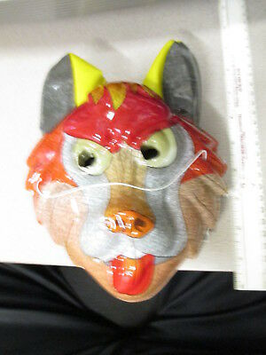 halloween mask (1 item unused) BIG BAD WOLF BROWN RED FACE anime China