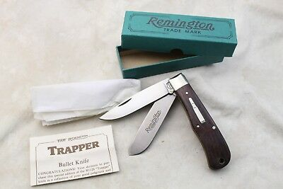 1989 Nos Remington R1128 Trapper Bullet Knife Folding Usa Made