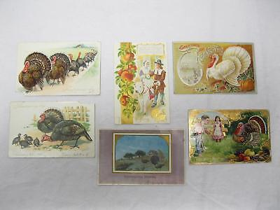 Lot of Early 1900s Thanksgiving Post Cards Victorian Old Vintage Antique