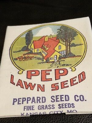 Peppard Lawn Seed Co. K.C. Mo. Unused NOS Seed Sacks 40s - 50's.