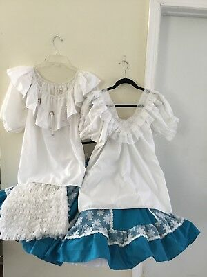 Malco Modes Square Dance Outfit - Blouse, skirt, pettipant and crinolines
