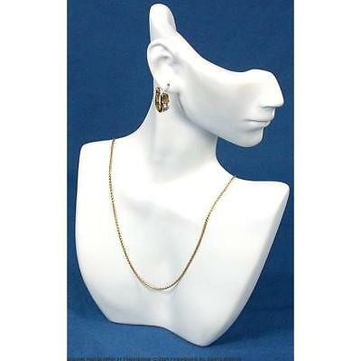 Necklace Earring Bust White Showcase Jewelry Display