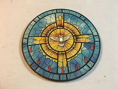 Holy Spirit Icon + Image Of Stained Glass In Rome