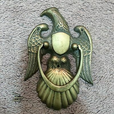 Antique/Vintage Eagle & Shield Door Knocker Solid Brass Large Size