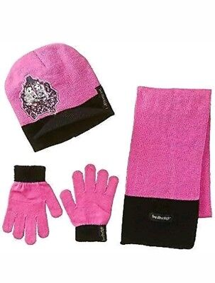 3-pc Berkshire Girls Ever After High Brimmed Beanie Glove Hat Scarf Set  winter f1f270cc28d5