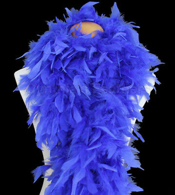 Royal Blue 100 Gram Chandelle Feather Boa Dance Party Halloween Costume