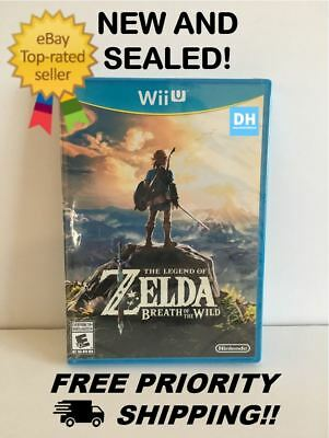 Legend of Zelda: Breath of the Wild (Nintendo Wii U, 2017) New, Free Shipping!