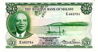Malawi ... P-3 ... 1 Pound ... L.1964 ... Choice*AU-UNC*.