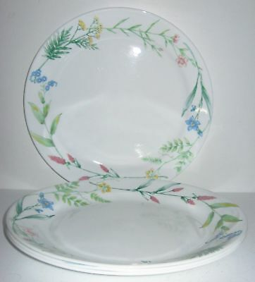 "CORELLE in the pattern ""MY GARDEN"" 10 1/4 inch dinner plates SET OF 4"