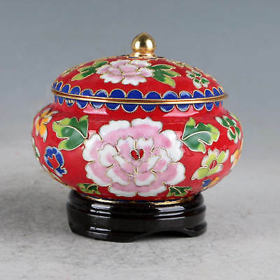 Chinese Cloisonne Hand-made Flowers Pot JTL1032