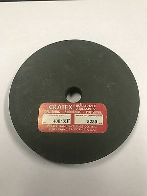 "CRATEX 4"" Rubberized Abrasive Wheel - Model 408-XF - Deburr, Smooth, Polish"
