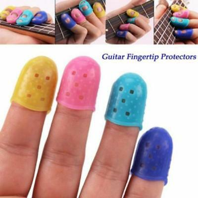 4pcs Learner Silicone Guitar Finger Care for Fingertip Cover Caps Protector J