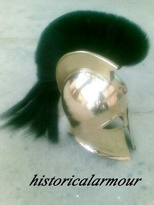 MEDIEVAL GREEK ITALO BRASS CORINTHIAN HELMET, GREEK HELMet REENACTMENT REPLICA