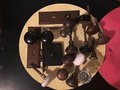 Lot Of Vintage Antique Door Knobs And Hardware