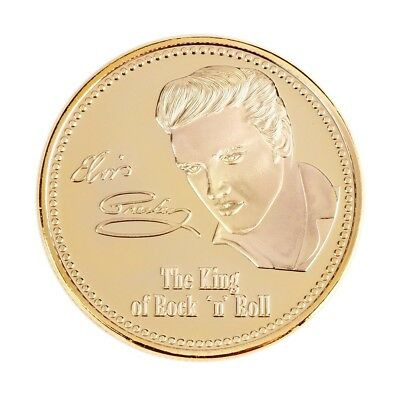 1935-1977 Gold Iron Elvis Presley The King of Rock N Roll Memory Coins Gift EW