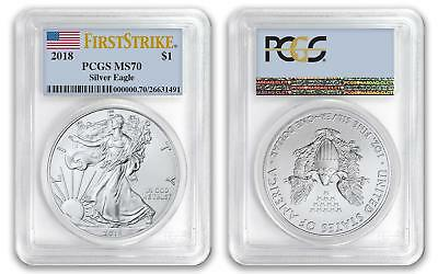 2018 $1 American Silver Eagle Dollar PCGS MS70 First Strike