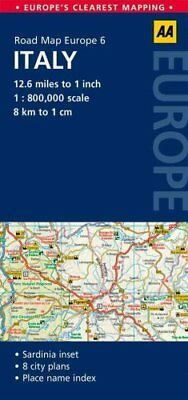 6. Italy AA Road Map Europe by AA Publishing 9780749575342