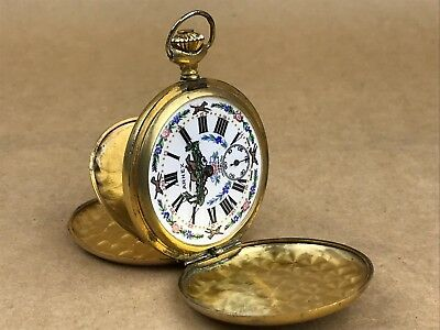 Arnex Vintage 1900s Pocket Watch with racing Horse Enamel Face - NICE