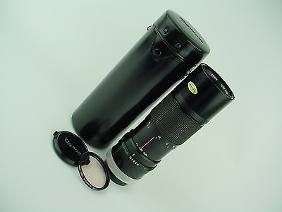 Canon Lens FD 100-200 f/5.6 Manual Focus Zoom Lens w/ Original Case & caps -Nice
