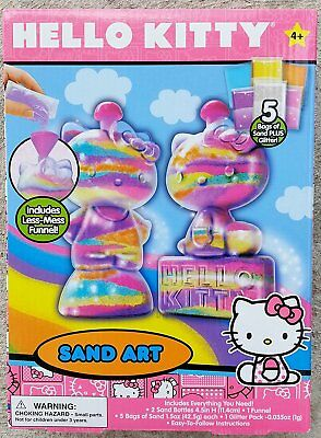 (1) Hello Kitty Sand Art ~ 6 bags of Sand Each ~ Everything You Need ~