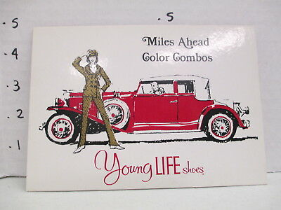 YOUNG LIFE SHOES 1960s store display sign women clothing psychedelic mod MILES