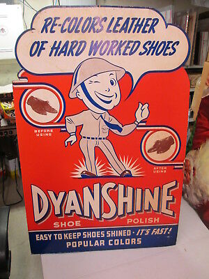DYANSHINE 1940s WWII Army soldier shoe polish standee store display sign