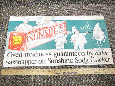Sunshine biscuit soda cracker 1930s store trolley sign water drop ad character