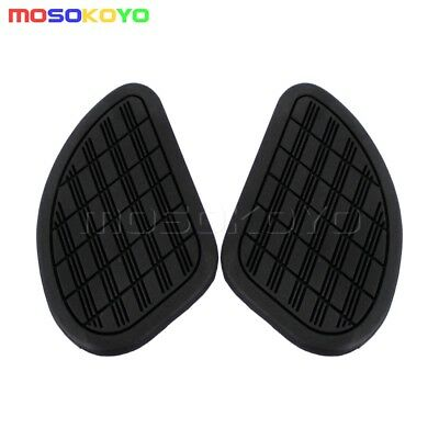 Motorcycle Black Tank Traction Pad Side Gas Knee Grip Guard Protector Universal