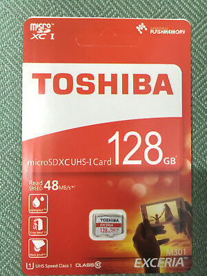 micro SD SDXC Class 10 48MB/s Mobile Memory Card Retail TF Toshiba₁ 128GB#₁Excer