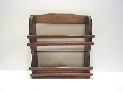 Vintage Wood Wall 2 Tier Spice Rack