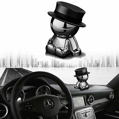 1x Hat Man Magnetic Rotation Dashboard Car Decor Phone Mount Holder Accessories