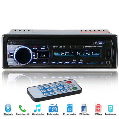 Car Stereo Audio Bluetooth In-Dash FM Aux Input Receiver SD USB MP3 Radio Player