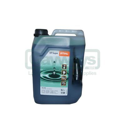 Stihl Hp Super 2 Stroke Oil 5L Can 50:1 Synthetic For 4-Mix & 2 Stroke Engines